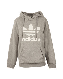 Adidas Originals Womens Grey Trefoil Logo Hoody
