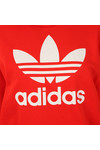 Adidas Originals Womens Red Trefoil Logo Hoodie