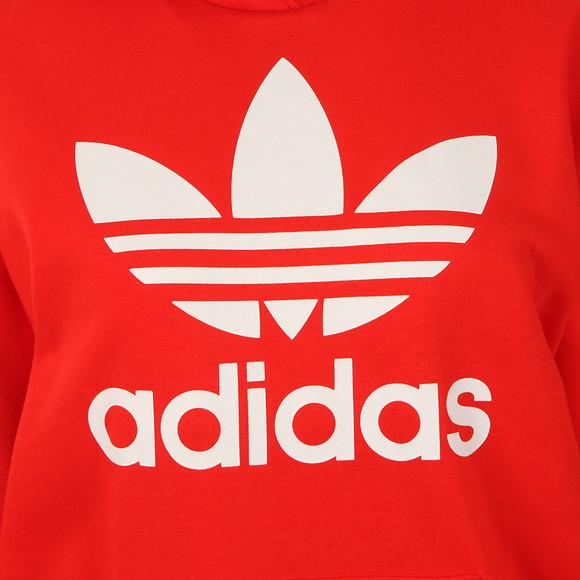 Adidas Originals Womens Red Trefoil Logo Hoodie main image