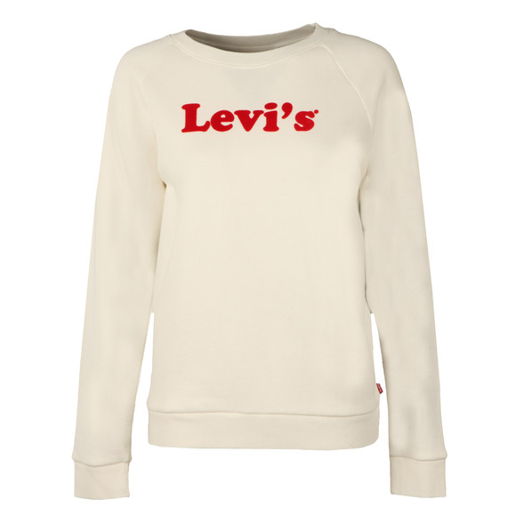 Levi's Womens White Boyfriend Crew Neck Sweat  main image