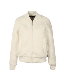 French Connection Womens White Hoffman Stitch Bomber Jacket