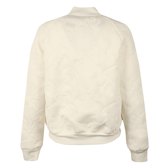 French Connection Womens White Hoffman Stitch Bomber Jacket main image