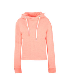 Superdry Womens Pink OL Luxe Cropped Hoody