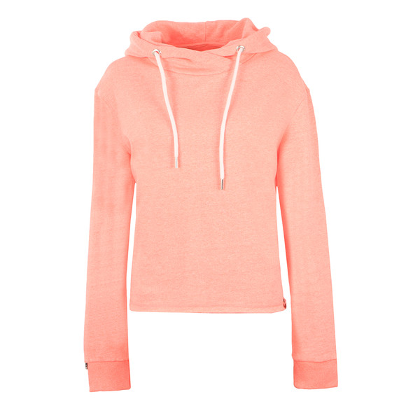 Superdry Womens Pink OL Luxe Cropped Hoody main image