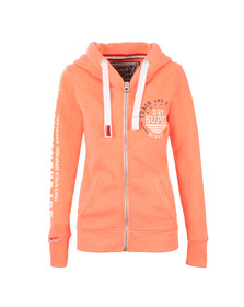 Superdry Womens Pink Track & Field Zip Hoody