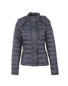 Superdry Womens Blue Fuji Slim Double Zip Hooded Jacket