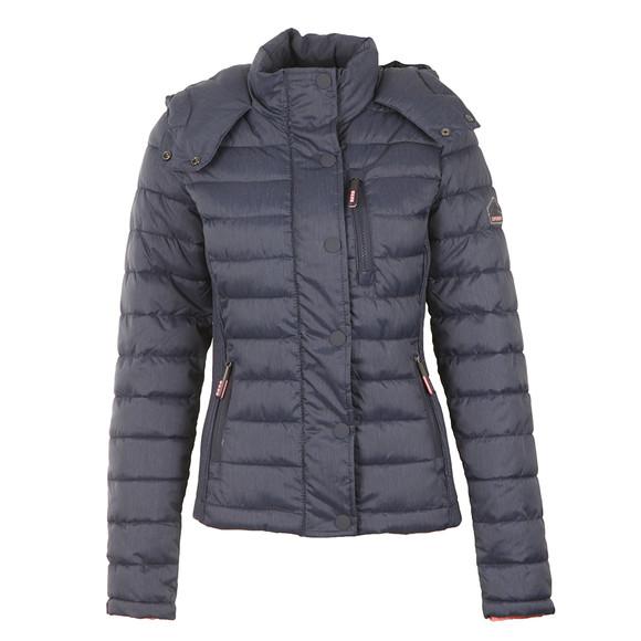 Superdry Womens Blue Fuji Slim Double Zip Hooded Jacket main image