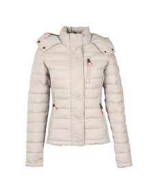 Superdry Womens Grey Fuji Slim Double Zip Hooded Jacket
