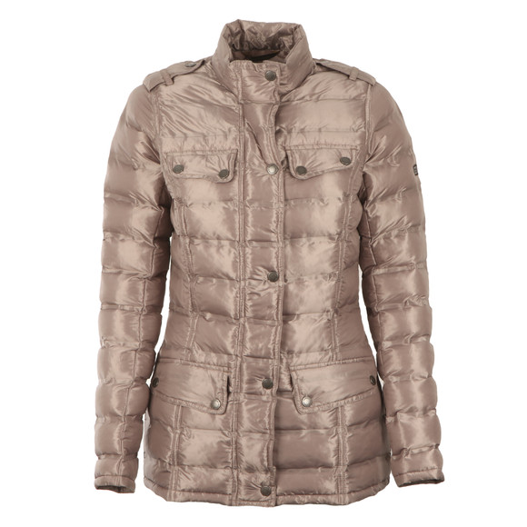 Barbour International Womens Beige Rider Quilt  main image