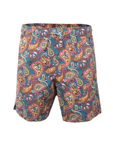 Pretty Green Mens Multicoloured Paisley Swim Shorts