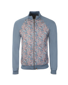Pretty Green Mens Blue Camley Paisley Track Top