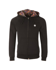 Pretty Green Mens Black Raynham Paisley Lined Hoody