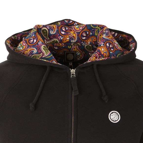 Pretty Green Mens Black Raynham Paisley Lined Hoody main image
