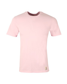 Franklin & Marshall Mens Pink Plain Crew Neck T Shirt
