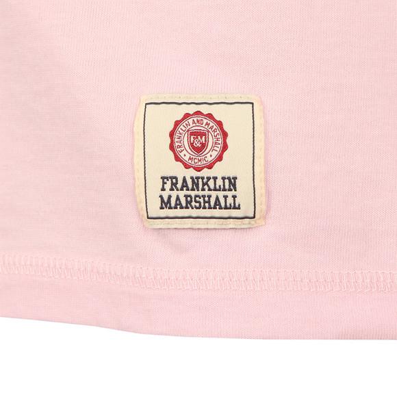 Franklin & Marshall Mens Pink Plain Crew Neck T Shirt main image