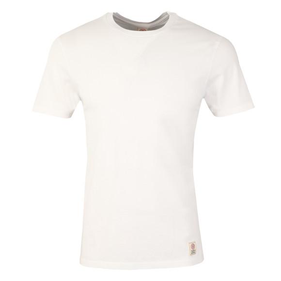 Franklin & Marshall Mens White Plain Crew Neck T Shirt main image