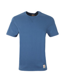 Franklin & Marshall Mens Blue Plain Crew Neck T Shirt