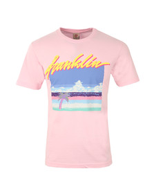 Franklin & Marshall Mens Pink Pixel Logo T Shirt