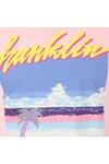 Franklin & Marshall Mens Pink Pixel Logo T Shirt