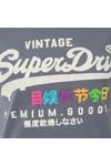 Superdry Womens Blue Premium Goods Rainbow Tee