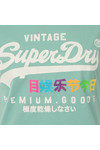Superdry Womens Green Premium Goods Rainbow Tee