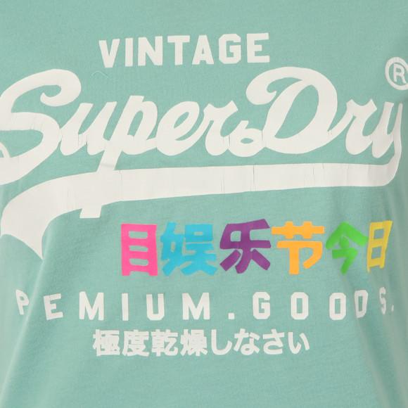 Superdry Womens Green Premium Goods Rainbow Tee main image