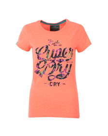 Superdry Womens Orange Osaka Brand Tropical Tee