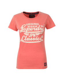 Superdry Womens Pink Icarus Duo Entry Tee