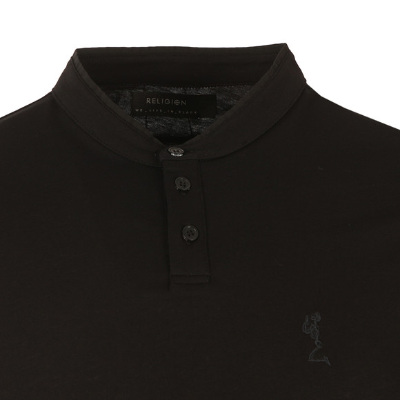 Religion Mens Black Ormont Collarless Polo main image