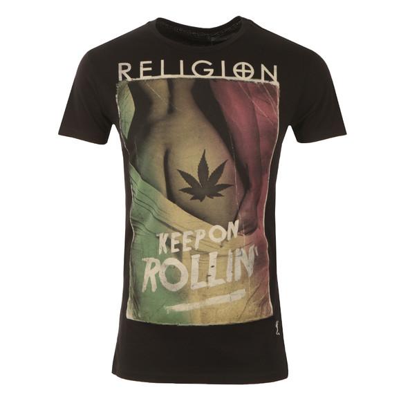Religion Mens Black Keep On Rollin Tee main image