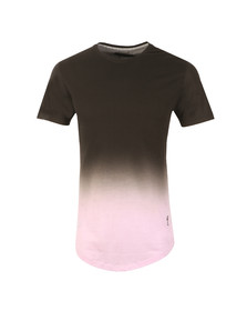 Religion Mens Black Gradient Stripe Tee