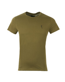 Religion Mens Green Fiction Tee with Webbing
