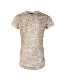 Religion Mens Grey Crack Roll Tee