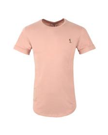 Religion Mens Pink Plain Crew Neck T-Shirt