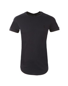 Religion Mens Blue Plain Crew Neck T-Shirt