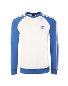 Adidas Originals Mens White Superstar Crew Sweatshirt