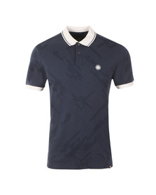 Pretty Green Mens Blue Kirby Jacquard Polo