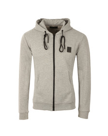 Religion Mens Grey Badge Zippy Sweat