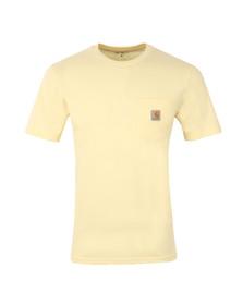 Carhartt Mens Beige Carhartt Pocket Crew T-Shirt