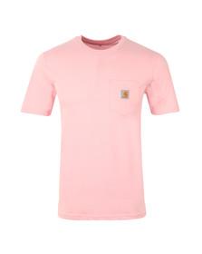 Carhartt Mens Pink Carhartt Pocket Crew T-Shirt