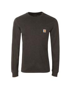 Carhartt Mens Black Long Sleeve Pocket T Shirt