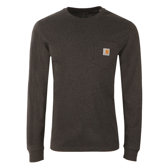 Carhartt Mens Black Long Sleeve Pocket T Shirt main image