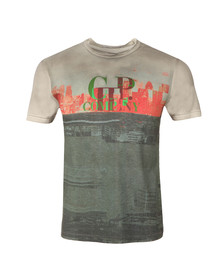 CP Company Mens Grey Allover Printed T Shirt