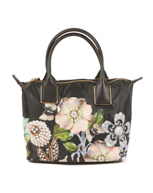 Ted Baker Womens Black Iyesha Gem Gardens Small Nylon Tote