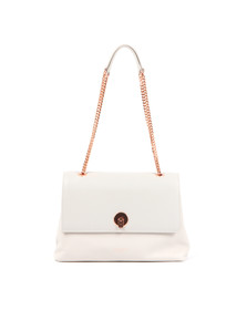 Ted Baker Womens Grey Millie Chain Circle Lock Satchel