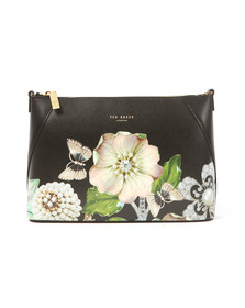 Ted Baker Womens Black Alyssa Gem Gardens Xbody Bag
