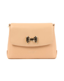 Ted Baker Womens Beige Tessi Curved Bow Xbody Bag
