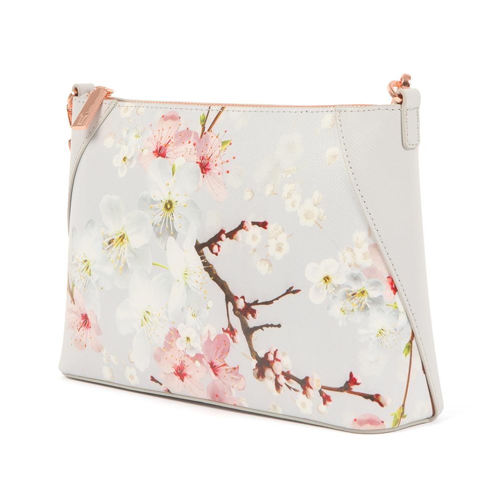 ted baker womens grey diella oriental blossom xbody bag