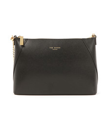 Ted Baker Womens Black Chania Minigrain Chain Strap Xbody Bag