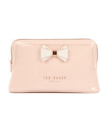 Ted Baker Womens Pink Abbie Curved Bow Large Wash Bag